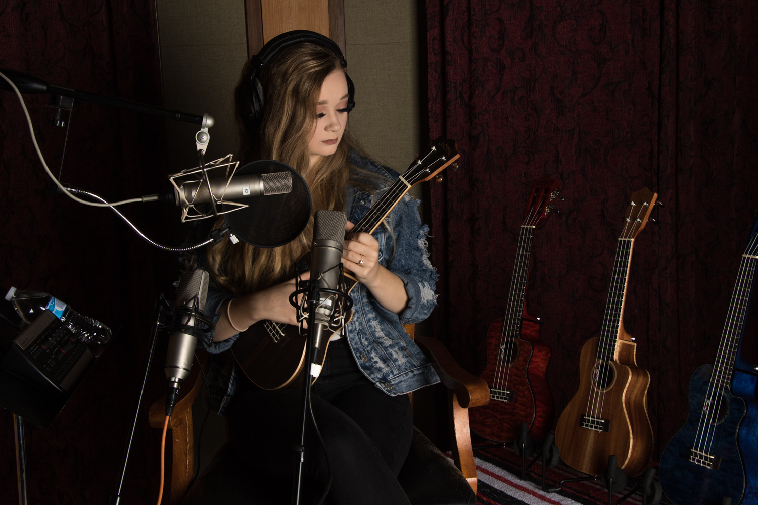 Ansley Newman in the studio